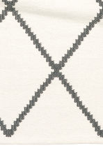 Jacquard-weave cotton rug - White/Black patterned - Home All | H&M CN 3